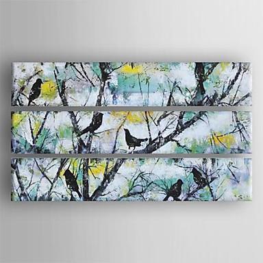 peint la main abstrait trois panneaux toile peinture l. Black Bedroom Furniture Sets. Home Design Ideas