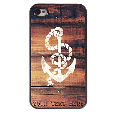 Buy Personalized Phone Case - Anchor Design Metal iPhone 4/4S
