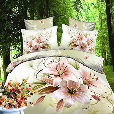 Buy Duvet Cover Set,3D Oil Painting Bedding Set Comforter Covers Bed Sheet Bedclothes Flower Pattern