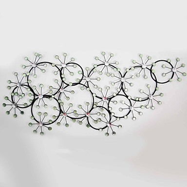 Buy E-HOME® Metal Wall Art Decor, Circular Snow Decor