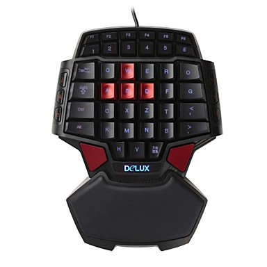 Buy Delux T9 Professional Gamepad Keyboard FPS Single Hand