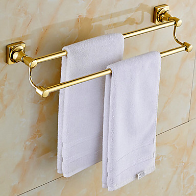 Gold Plated Brass Bathroom Towel Rack 690422 2016