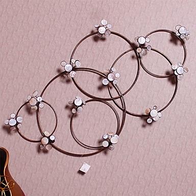 Buy E-HOME® Metal Wall Art Decor, Circular Chain Floret Decor One PCS