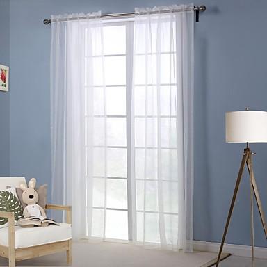 moderno pannello solido salotto bianco poliestere tende ...