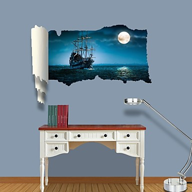 Buy 3D Wall Stickers Decals, Ghost Ship Decor Vinyl