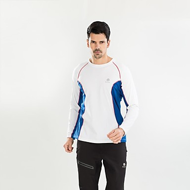 Buy Outdoor Camping Hiking Long Sleeve Men Quick Drying Windproof Breathable T-Shirts Four Colors M-XXL