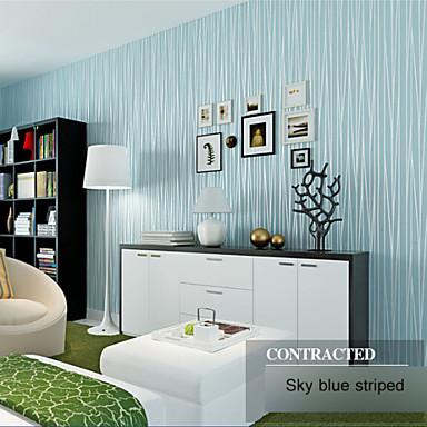 Papel pintado raya serie luna cielo ventas caliente pared for Disenos de pintura en paredes