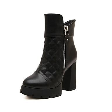 bottes noir chaussons bottines bout pointu bottes gros talon similicuir pour. Black Bedroom Furniture Sets. Home Design Ideas