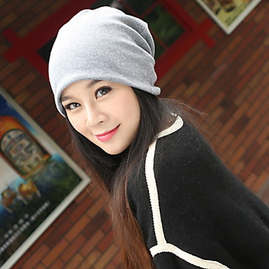 Hip-hop Unisex Casual Cotton Beanie/Slouchy