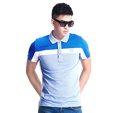 Men's Running Tops Fitness / Racing / Leisure Sports / Running Breathable / Quick Dry / Wearable Blue Sports Wear