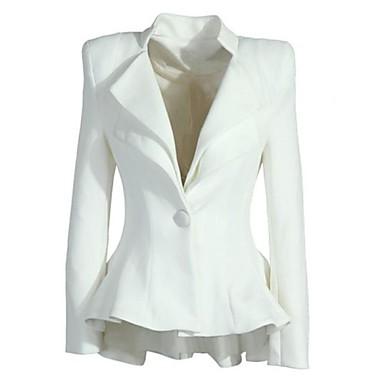 WeiMeiJia® Women's Lapel Neck All Matching Solid Color Overcoat