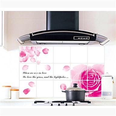 Pared calcoman as pegatinas de pared color de rosa rosado - Pegatinas para cocinas ...
