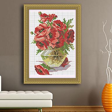 F cil de flores bordado a mano la pintura kits vivir for Decoracion del hogar hecho a mano