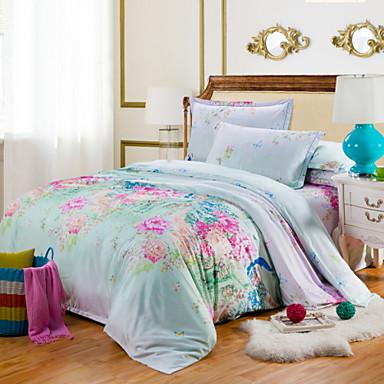 Noble literie de tencel d finit couette de luxe situ drap for Housse de couette luxe