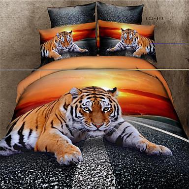 Buy Shuian® 3D Oil Painting Bedding Set Queen Size 100% Cotton Comforter Duvet Covers Bed Sheet Flat Pillowcase
