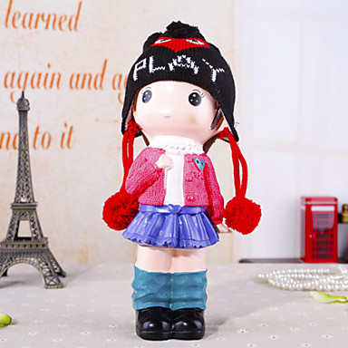 """11.4""""H Lovely Girl With Piggy Bank Home Furnishing Decorations"""