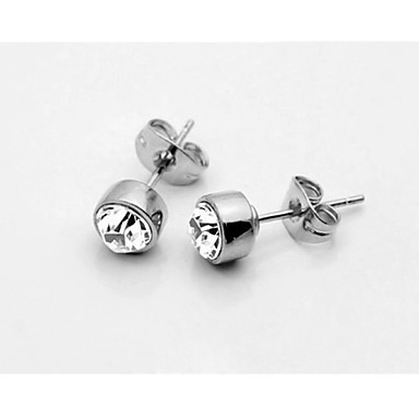 Buy T&C Women's Concise Clear Crystal Stud Earrings 18K White Gold Plated Jewelry Austrian
