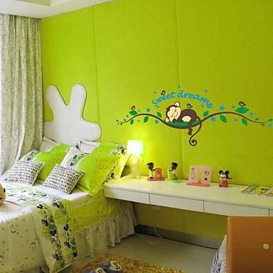 Søt drøm tegneserie ape vegg klistremerker for barn rom hjemme ...