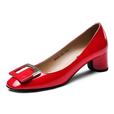 chaussures femme cuir gros talon talons bout carr escarpins talons habill noir bleu rouge de. Black Bedroom Furniture Sets. Home Design Ideas