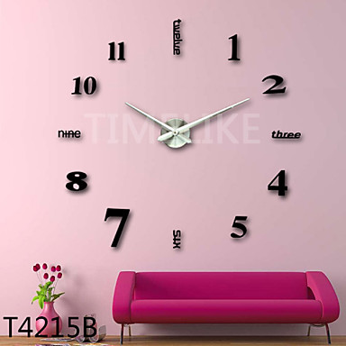 Buy 3D Fashion Design Large Wall Clock Home Decor Diy
