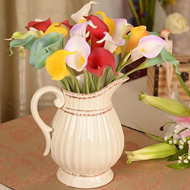 1pcs flores artificiales calla simulaci n hogar - Plantas artificiales para decoracion ...