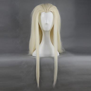Buy Hobbit Thranduil King Elves Golden Long Straight Hair Cosplay Wig 78cm