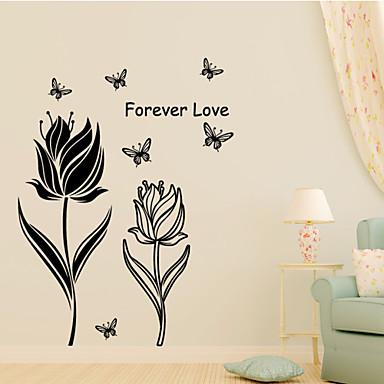 Pegatinas de pared de flores de estilo etiquetas de la - Adhesivos pared 3d ...