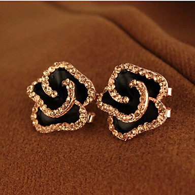 """""""New Arrival Hot Selling High Quality Exaggerated Rhinestone Rose Earrin..."""