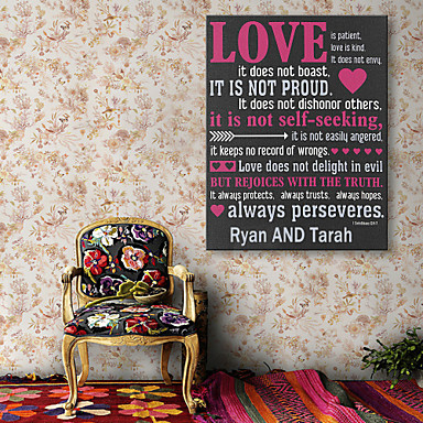 Buy E-HOME® Personalized Signature Canvas Frame-LOVE