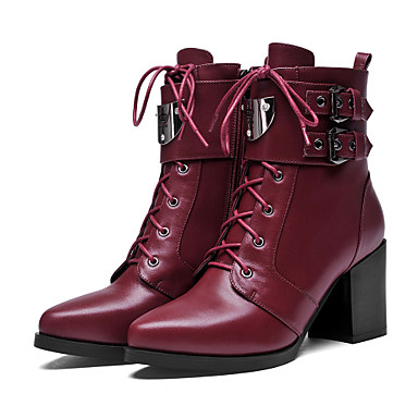 chaussures femme ext rieure d contract noir bordeaux gros talon talons rangers. Black Bedroom Furniture Sets. Home Design Ideas