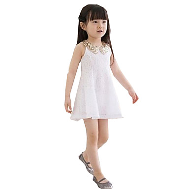 Buy Waboats Girls Sequins Lace Sleeveless 3-7 Years Party Dress