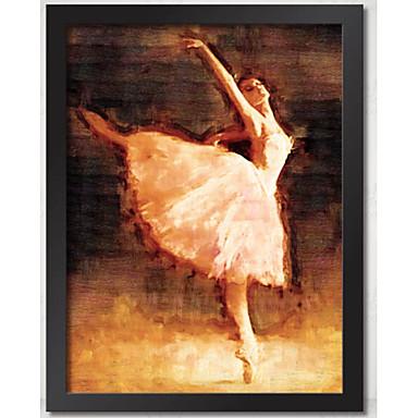 ballerina parete cornice artistica con cornice di legno con tela con vetro organico plastica ...