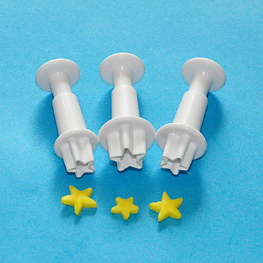 Buy FOUR-C Star Plastic Plunger Cutters, Sugarcraft Cutters,Fondant Cake Decoration Tools Set