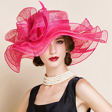 Buy Women's Flax Headpiece-Wedding / Special Occasion Hats 1 Piece Head circumference 57cm
