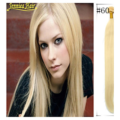 Buy 18-28 Inch 1g/s 50g/set Straight Keratin Nail Tip U shape Hair Extension Beauty Stock
