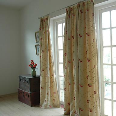 To paneler broderi panel soverom gardiner draperer beige 4223740 ...