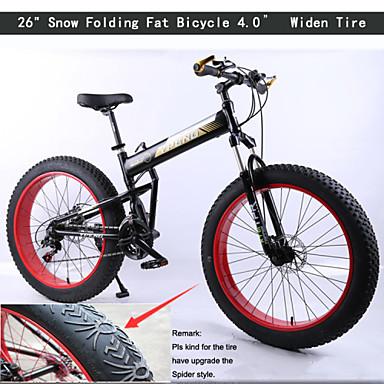 Mountain Bike Cycling 21 Speed 26 Inch/700CC Unisex Double Disc Brake Springer Fork Rear Suspension Ordinary/Standard Aluminium Alloy