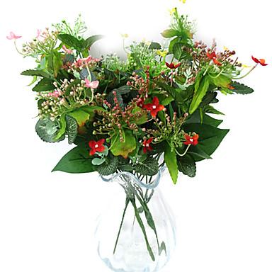 5 t tes de fleur de jasmin en tissu de soie fleur for Fleurs artificielles tissu