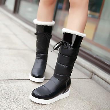 s shoes patent leather platform snow boots fashion