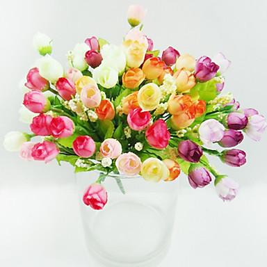 15 jefes de pearlet brote color de rosa en la tela de seda - Plantas artificiales para decorar ...