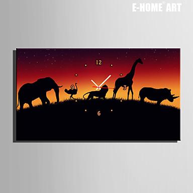 Buy E-HOME® Walking Animals Clock Canvas