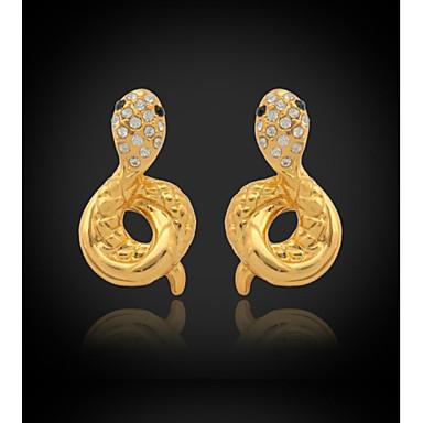 Buy U7®New Luxury Women's Drop Dangle Heart Earrings 18K Gold Plated Austrian Rhinestone Crystal Jewelry Gift Women