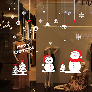 Window stickers window decals style christmas small - Deco fenetre noel maison ...