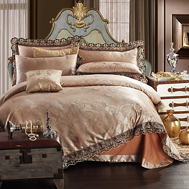Buy Simple Opulence Modal Cotton Jacquard Quilt King Queen Duvet Cover Set 1 Flat sheet 2 Pillowcases