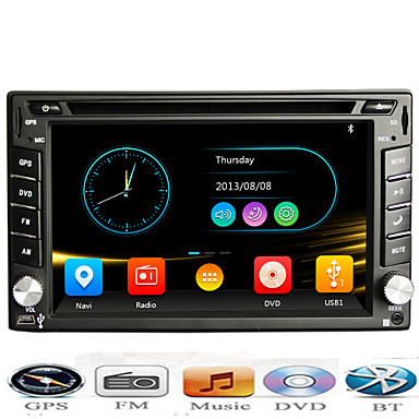 Din Universal Car DVD GPS Player With Bluetooth FM Phone Connect for