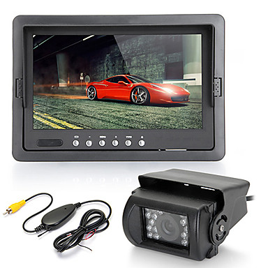 Buy 7 inch TFT LCD Car Rearview Monitor IR Reversing Backup 18 LED Night Version Camera