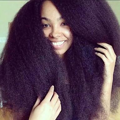 Buy Premierwigs 8''-26'' Kinky Straight Brazilian Virgin Glueless Full Lace Human Hair Wigs Front 8A