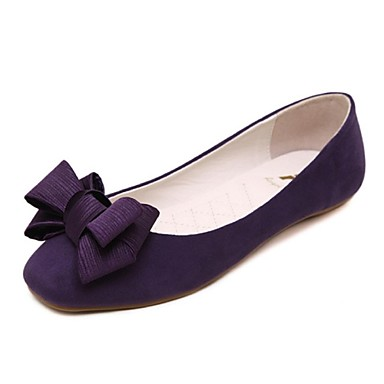 Dark Purple Flat Shoes