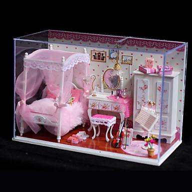 romantisches geschenk geburtstagsgeschenk handmodell diy holzpuppenhaus inklusive aller m bel. Black Bedroom Furniture Sets. Home Design Ideas