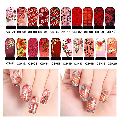 Buy 2Water Transfer Nail Art Decals Full Cover DIY Stickers Designs Manicure Decorations (C3-001 C3-020)
